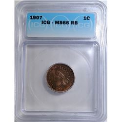 1907 INDIAN CENT ICG MS-66 RB