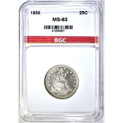 1856 SEATED QUARTER, BGC CH BU