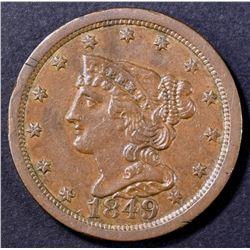 1849 HALF CENT CH AU