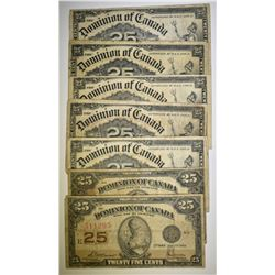 DOMINION OF CANADA 25 CENT NOTES