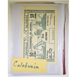 FOREIGN CURRENCY BOOK WITH 18 NOTES MANY CU