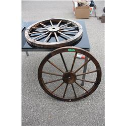 """2X THE MONEY - Wooden Wheels 31.5"""" Diameter"""