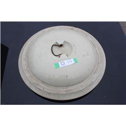 """Stoneware Crock Lid 18"""" Diameter"""