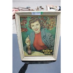 """Double Cola Framed Cardboard Picture (14"""" Wide by 18"""" Tall)"""