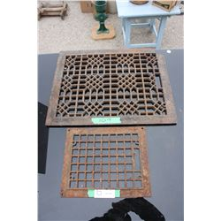 """2 Metal Grates (20.25"""" by 16.25"""" and 12"""" by 9.75"""")"""