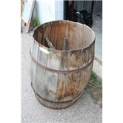 """Vintage Whiskey Barrel and Contents 20"""" Diameter and 30"""" T"""