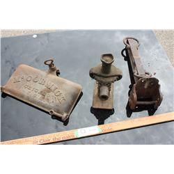 McCornmick Mower Lid and Metal Pieces
