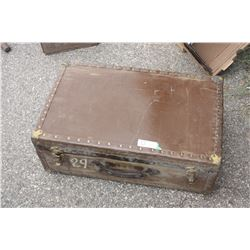 """Vintage Trunk (27"""" W by 17"""" D) and Contents"""