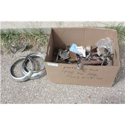 Box of Parts for a 1948 to 1956 Ford Pick Up