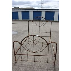 """Metal Bed Frame (Possibly for a Double) 75"""" by 54"""""""