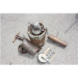 Vintage Ice Cream Maker and Misc