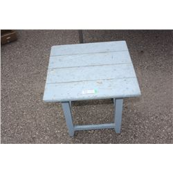 """Blue Corner Table 21"""" by 21"""" by 20"""" T"""