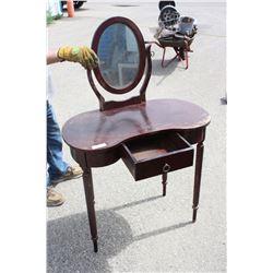 "Wooden Vanity 32"" W by 17"" D by 29"" T (before mirror) - Missing Screws"