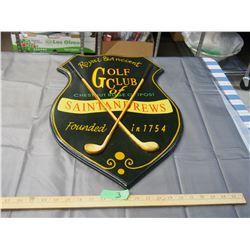 Wooden Golf Plaque