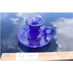 Cobalt Blue Finger Lamp Candle Dish