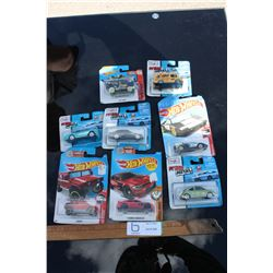 8 Toy Cars in Packaging