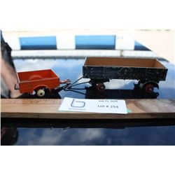 2 Dinky Toy Grain Wagons (Missing Tires)