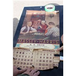1941 Massey Harris Calendar