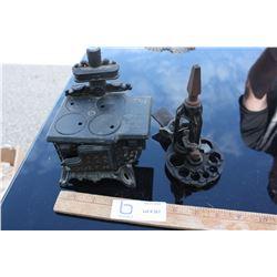 Mini Cast Iron Stove and Spoke Shaver