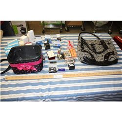 Large Purse, Avon Case and Jewelry Contents