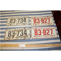 2 Sets of 1958 and 1959 License Plates