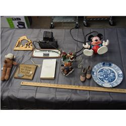 Assorted Figurines, Plaques, 1929 Kinsley SK Plate