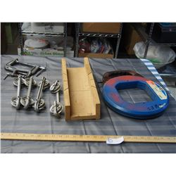 C Clamps, Clothing Line Spacers and Steel Fish Tape