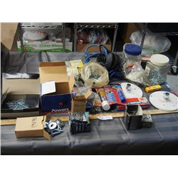 Assorted Screws and Bolts, plus Bungee Cords and misc
