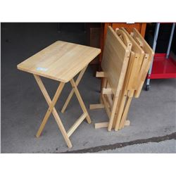 """Wooden TV Trays (4) 19"""" by 14.5"""""""