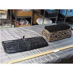 Keyboard and Foot Bush