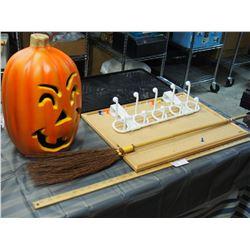 Floor Mat, Light Up Halloween Decorations (Working) and misc