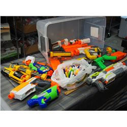 Nerf Guns with Accessories with Plastic Tote and Lid