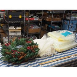 Misc Foam, Coverings, Christmas Wreath and Welcome Sign