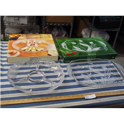 2X THE MONEY - Fifth Avenue Crystal Platter and Nadine Walther Glass Platter