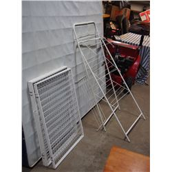 """6 Piece Metal Gate Fence (25"""" W by 31"""" T) and Clothes Dryer Stand (50.5"""" T)"""