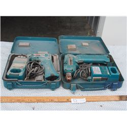 Makita Drills with Chargers 3/8 Cordless