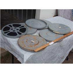 """Movie Reels (6) 12"""" Diameter"""