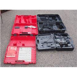 4 Empty Tool Cases
