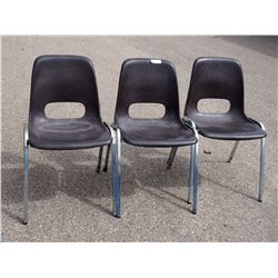 3X THE MONEY - Plastic Stacking Chairs