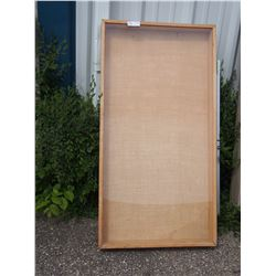 """Wooden Display Cabinet (47"""" T by 25"""" W by 4"""" D) Plexi Glass"""