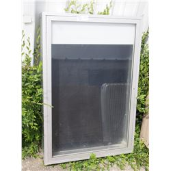 """Metal Display Cabinet (36"""" T by 24.5"""" W by 6"""" Deep) Glass Front"""