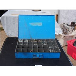 Metal Organizer with Contents