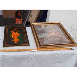 """Mirrored Picture 12"""" by 18"""" and Religious Picture 20"""" by 24"""""""