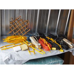 Lot of Extension Cords, Power Bars and Electrical
