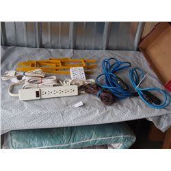 Lot of Small Extension Cords and Powerbars