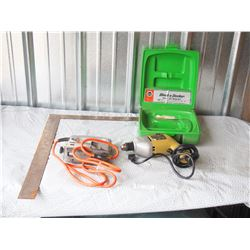 Black and Decker Jig Saw with Case, 10mm Drill (Both Working) and Metal Square Level