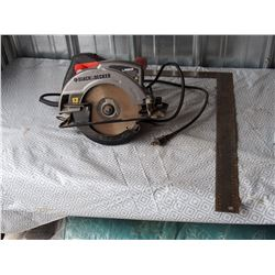 Black and Decker 13 amp Skil Saw (working) and Metal Square