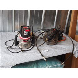 Sears Router (working) plus Black and Decker Rotary Hobby Shop with Attachments