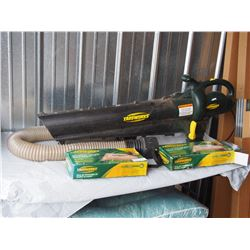Yardworks Leaf Blower and Vac with Poper Bass Electric