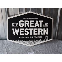 Great Western Hanging Wooden Sign
